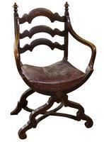 Pair of Ebonised Oak Elbow Chairs (2 of 12)
