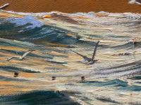 """Seascape Oil Painting """"St Ives Fishing Boat"""" Off Cornwall Coast by Keith English (28 of 36)"""