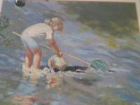 """Pastel Drawing """"Serious Fishing"""" Artist Rachel C. Rowe (5 of 5)"""