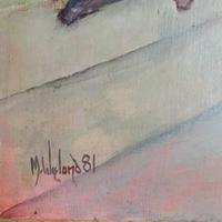 Large Oil on Board Painting by Martin Wieland 1981 (4 of 6)