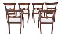 Set of 6 (4 +2) Regency Cuban Mahogany Dining Chairs 19th Century C1825 (2 of 15)