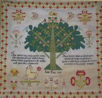 Good 19th Century Embroidery Sampler by Jane Kay 1897 (2 of 8)