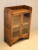 Small Proportioned Oak Glazed Bookcase (2 of 11)