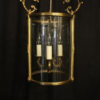 French Gilded Bronze Antique Hall Lantern (9 of 10)
