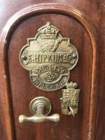 Antique Hopkins Birmingham Cast Iron Compact Safe with 2 Keys (4 of 9)