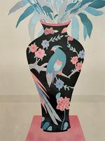 Large Original Japanese Inspired Floral Still Life Watercolour Painting (7 of 12)