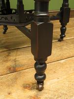 Antique Edwardian Black Painted Occasional Table, Lamp Table, Gothic Shabby Chic (11 of 13)