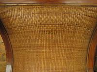 Vintage British Colonial Style Teak & Cane Plantation Chair & Footstool (5 of 17)
