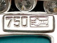0.55ct Diamond, Malachite, Coral & Jade Brooch - Vintage c.1960 (6 of 9)