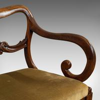 Antique Scroll Armchair, English, Mahogany, Buckle Back, Seat, William IV, 1835 (11 of 11)