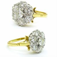 Impressive Vintage 18ct gold diamond cluster engagement ring 1.40 carat ~ With Independent Valuation (3 of 9)