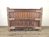 Pitch Pine and Oak Settle Bench with Storage (M-1522) (7 of 10)