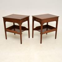 Pair of Antique Mahogany Side /  Bedside Tables (10 of 12)