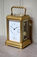 Bell Striking and Repeating and Alarm Gorge Case Carriage Clock (8 of 11)