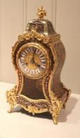 Small French Tortoiseshell and Brass inlay Mantel Clock (7 of 12)