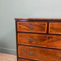 Spectacular Small Georgian Mahogany Antique Chest of Drawers (5 of 6)