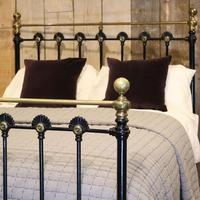 Late Victorian Cast Iron Antique Bed in Black (3 of 8)