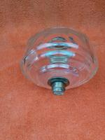 Antique Cut 12 Faceted Glass Oil Lamp Font / Fount Hicks & Sons Bayonet Collar (8 of 12)