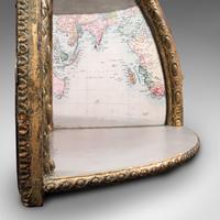 Antique Mirrored Corner Shelf, English, Gilt Gesso, Decorative Display, Regency (8 of 9)