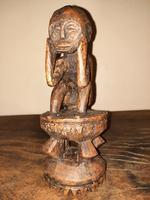 Early 20th Century African Carved Wooden Stylized Sculpture (6 of 12)