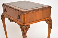 Antique Burr Walnut Leather Top Writing Table / Desk (10 of 10)