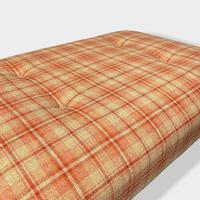 Buttoned Tartan Plaid Low Footstool (4 of 7)
