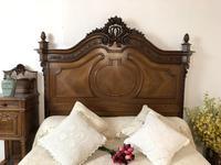 Antique French Stunning Huge Oak Bed Frame & Pot Cupboard (10 of 16)