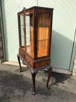 Antique Burr Walnut Display Cabinet (8 of 10)