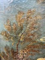 Genre Art 18th Century Oil Painting Classical Figures Musical Recital & Satyrs (9 of 26)