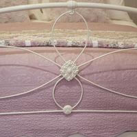 Cream Victorian Cast Iron Bedstead with Hoop Over Design (7 of 10)