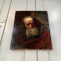 Antique oil painting portrait of a Jewish Rabbi (6 of 10)