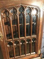 Gothic Style Oak Corner Cabinet (3 of 14)