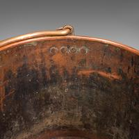 Pair of Antique Fireside Bins, English, Copper, Coal, Fire Bucket, Victorian (10 of 12)