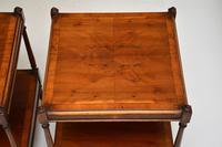 Pair of Antique Georgian Style Yew Wood Side Tables (3 of 14)