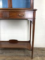 19th Century Glazed Mahogany Bookcase on Stand (10 of 10)