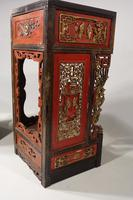 Quite Rare Pair of Late 19th Century Oriental Tall Stands (5 of 5)