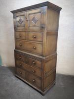Carved Oak Millinery Cupboard / Tallboy / Press (11 of 11)