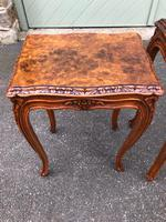 Quality Burr Walnut Nest of 3 Tables (9 of 10)