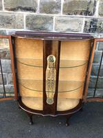 Antique Walnut China Display Cabinet (6 of 10)