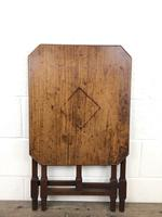 Antique 19th Century Mahogany Folding Table or Small Table (6 of 10)