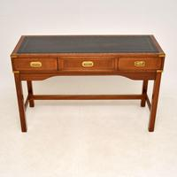 Antique Military Campaign Style Mahogany Writing Table / Desk (2 of 12)