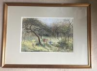 S.G.William Roscoe Watercolour 'In the Orchard' (2 of 2)