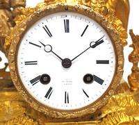 Antique 8 Day Ormolu Mantel Clock Sevres Cavalier Explorer French Mantle Clock (6 of 6)