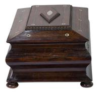 Victorian Rosewood Jewellery / Sewing Box (2 of 8)