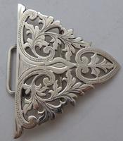 London 1902 Hallmarked Solid Silver Nurses Belt Buckle Marples & Co (4 of 8)