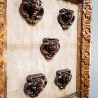 5 Carved Heads in Gilt Frame (5 of 10)