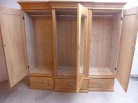Rare Victorian 3 Door Antique Pine Waxed 5 Piece Triple Wardrobe (11 of 13)