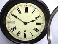 Rare W&H 7 Inch Dial Wall Clock Ebonised Case Dial Clock Station Clock (8 of 12)