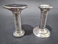 Pair of Arts & Crafts silver Candlesticks (6 of 6)