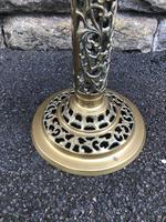Antique Ornate Walnut & Brass Wine Table (2 of 5)
